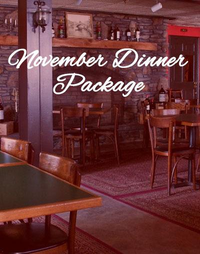 November Dinner Package
